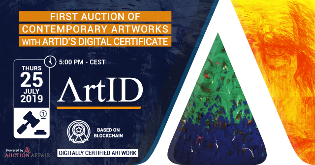 First Auction of Contemporary Artworks with ArtID's Digital Certificate